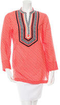 Tory Burch Printed Embroidered Tunic