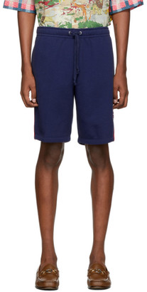 Gucci Blue GG Star Patch Shorts