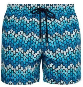 Vilebrequin Moorea Turtle Print Swim Shorts - Mens - Blue