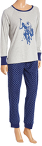 U.S. Polo Assn. Heather Gray & Blue Polo Horse Pajama Set