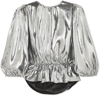 Isabel Marant Open-back Metallic Silk-blend Top