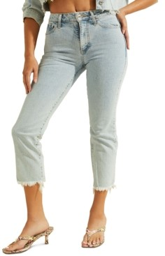 GUESS 1981 High-Rise Embroidered Jeans