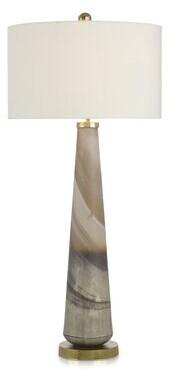 "John-Richard Collection 41"" Cream Buffet Lamp"