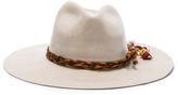 SENSI STUDIO Classic Long Brim Hat with Cabuya Band Braid