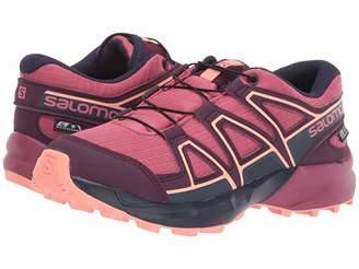 Salomon Speedcross CSWP (Little Kid/Big Kid) (Malaga/Potent Purple/Desert Flower) Girls Shoes