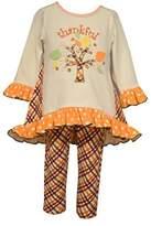 Bonnie Jean Little Girls Thanksgiving Autumn Top and Pants Set