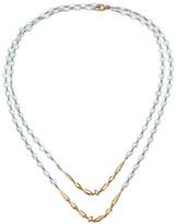Etho Maria 18K Rose Gold & Blue Topaz Beaded Double-Strand Long Necklace