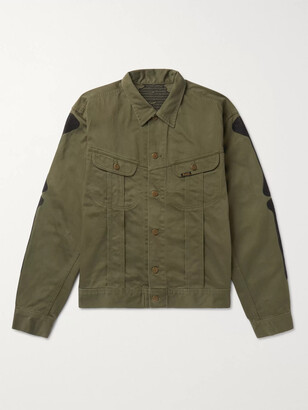 KAPITAL Appliqued Denim Jacket - Men - Green