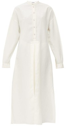 Jil Sander Band-collar Crepe Maxi Dress - Ivory
