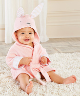 Baby Aspen Pink Bunny Hooded Spa Robe