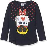 Disney Girl's Minnie Mouse Love Mickey T-Shirt,(Manufacturer Size: 4 Years)
