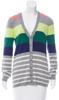 Lela Rose Cashmere & Silk-Blend Striped Cardigan