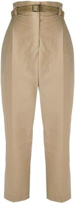 Brunello Cucinelli Paperbag Waist Cotton Trousers