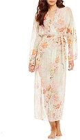 Flora Nikrooz Peggy II Floral Print Chiffon Robe
