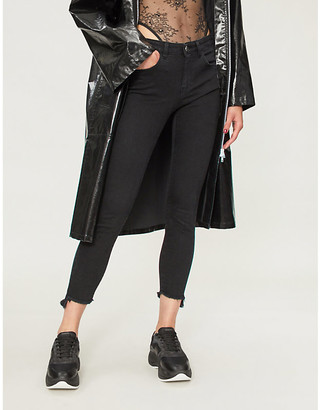 Pinko Sheila ripped skinny mid-rise jeans