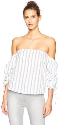Blu Pepper Women's Striped Off The Shoulder Top
