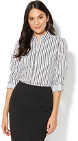 New York & Co. 7th Avenue - Madison Stretch Shirt - Dot Print - Petite