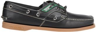 Prada Logo Motif Boat Shoes