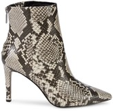 Kenneth Cole New York Riley Simple Snake-Print Leather Booties