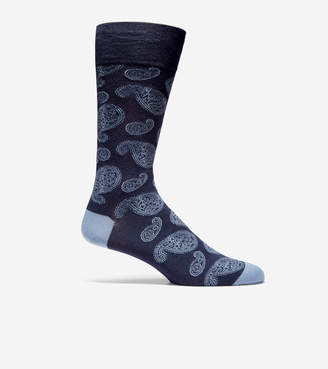 Cole Haan Large Paisley Crew Socks