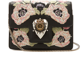 Alexander McQueen Heart mini poppy-embroidered leather shoulder bag