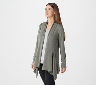 Cuddl Duds Brushed Knit Cascading Front Wrap