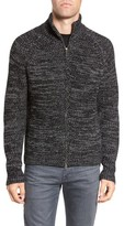 French Connection Men's Zip Wool Blend Cardigan