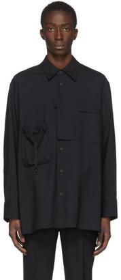 Solid Homme Navy Pocket Shirt