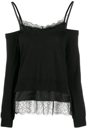 Twin-Set Twin Set layered cold-shoulder top