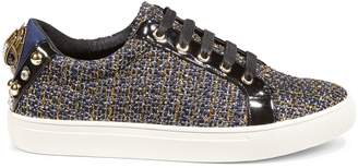 Kurt Geiger London Faux Fur-Trim Low-Top Sneakers