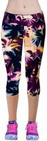 Kinghard® Kinghard High Waist Fitness Yoga Sport Pants Printed Stretch Cropped Leggings (S, )