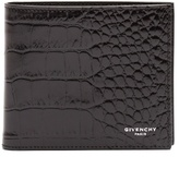 Givenchy Bi-fold Crocodile-effect Leather Wallet