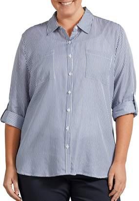 Dickies Plus Size Print Roll-Tab Sleeve Shirt