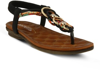 Spring Step Patrizia by Embellished T-Strap Sandals - Gadelina