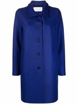 Thumbnail for your product : Harris Wharf London High-Neck Virgin-Wool Single-Breasted Coat