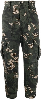 Zadig & Voltaire Camouflage-Print Cargo Trousers