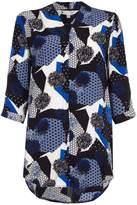 Yumi Multi Print V-Neck Tunic