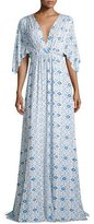 Rachel Pally Kimono-Sleeve Printed Caftan Maxi Dress, Delta Medallion