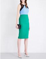 Diane von Furstenberg Colour-block wool-blend dress