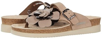 Mephisto Helen Flower (Light Taupe Sandalbuck) Women's Shoes