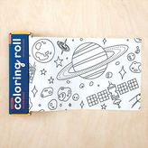 Mudpuppy NEW Colouring Paper Roll Outer Space