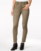 Tinseltown Juniors' 2-Button High-Waist Colored Skinny Jeans