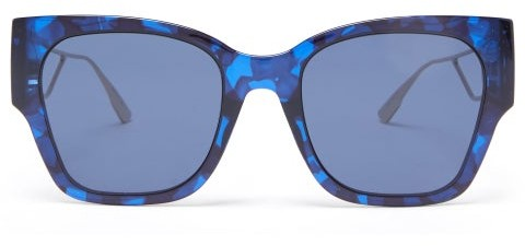 Thumbnail for your product : Christian Dior 30montaigne1 Square Acetate And Metal Sunglasses - Blue