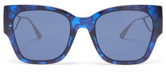 Christian Dior 30montaigne1 Square Acetate And Metal Sunglasses - Blue