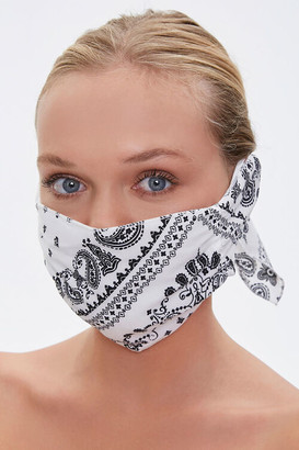 Forever 21 Paisley Face Mask