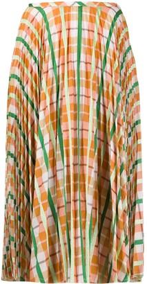 Essentiel Antwerp Checked Pleated Skirt