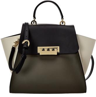 ZAC Zac Posen Eartha Top Handle Colorblocked Leather Shoulder Bag