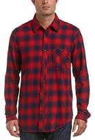 Hudson Men's Weston Button up Red Plaid Shirt
