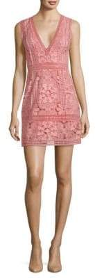 Alice + Olivia Zula Lace Combo Party Dress