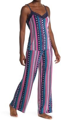 Josie Lace Trim Camisole & Pant 2-Piece Pajama Set